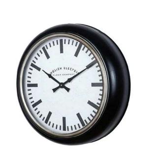 Reloj pared borde negro
