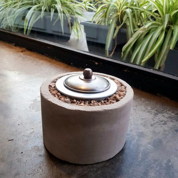 Fogón cilíndrico cemento