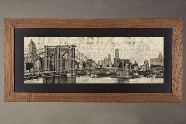 Cuadro puente Brooklyn roble