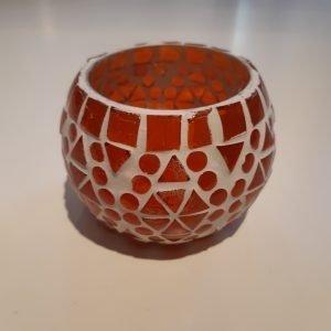 Luminaria mosaico naranja