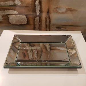 Bandeja espejada rectangular