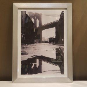 Cuadro Bridge varilla plata