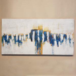 Bastidor Abstracto White and Blue